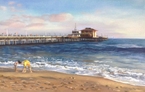 santa monica pier commission page