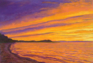 Sunset over the porkies commission page