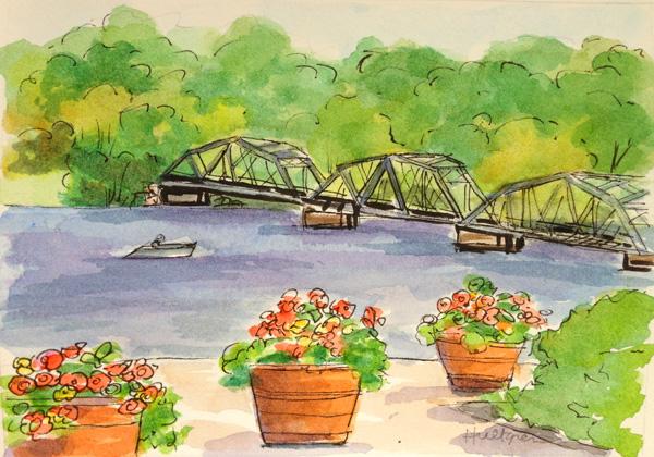 Stillwater bridge sketch