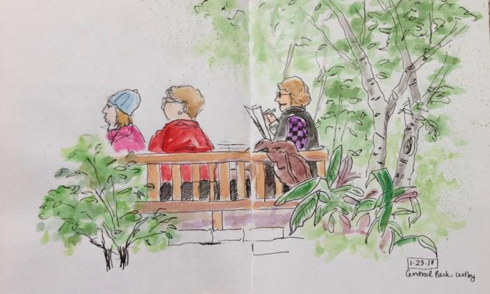 central park sketch