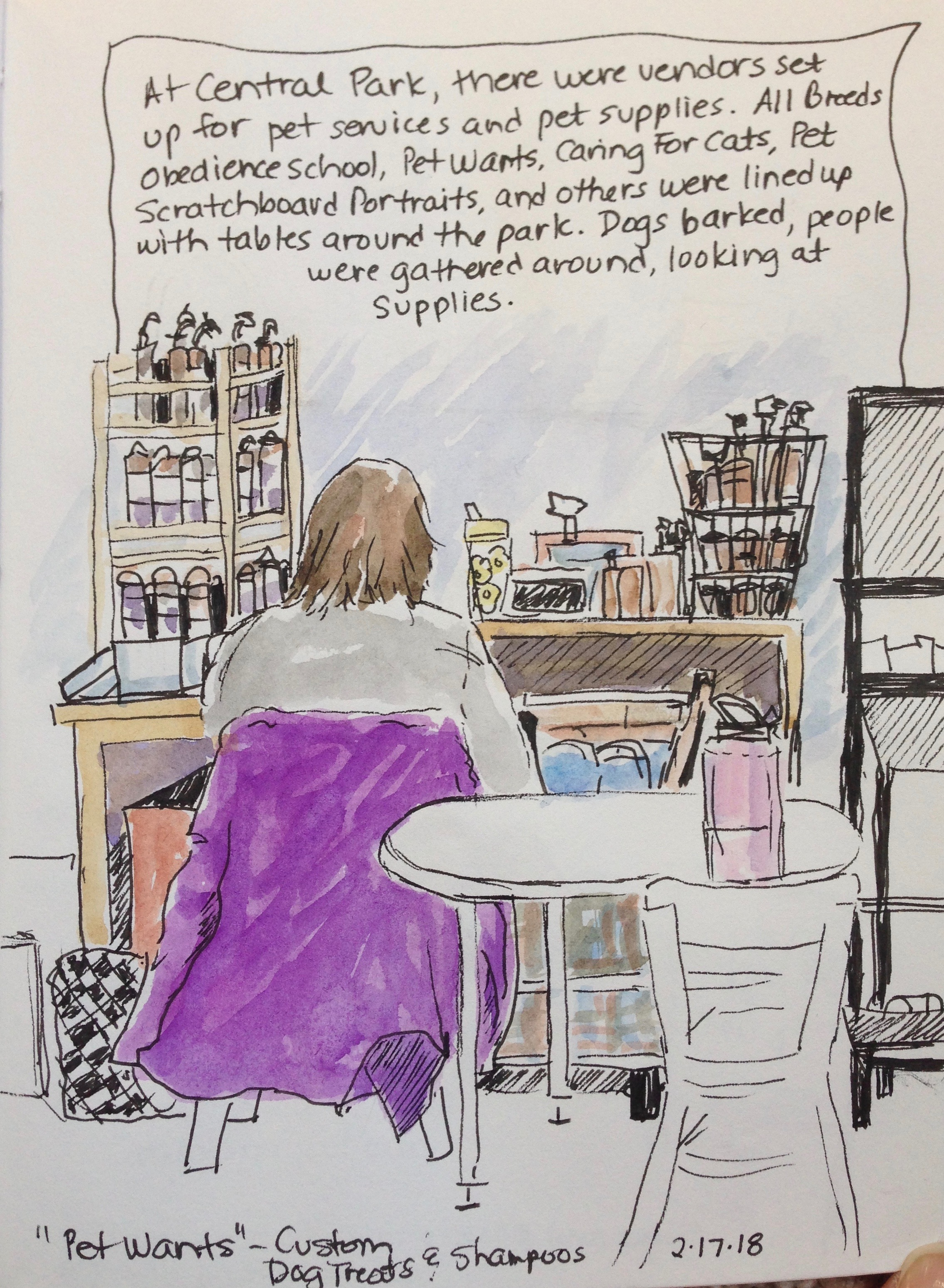 Sketching at the Pet Expo – Minnesota Sketcher