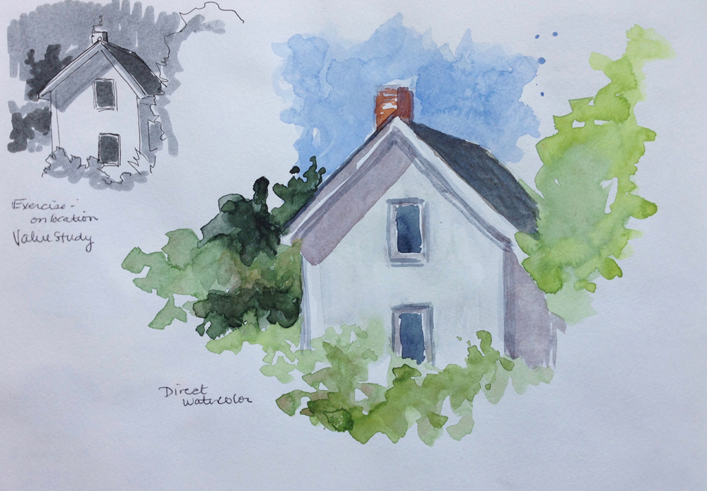 heritage house watercolor